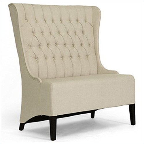 Baxton Studio Vincent Beige Linen Modern Loveseat Bench Review