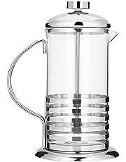 Glazen Franse Pers Koffiezetapparaat, 20 Oz/27 oz Koffiepers Theemaker Koffie & Thee Brouwer Pot Theepers met Filter Mesh(20 oz/ 600ML)