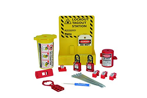 Lockout Tagout Station - Oberon LOTO-STATION26 Electrical Lockout Station, Red/Yellow (26 Piece) (Pack of 26)