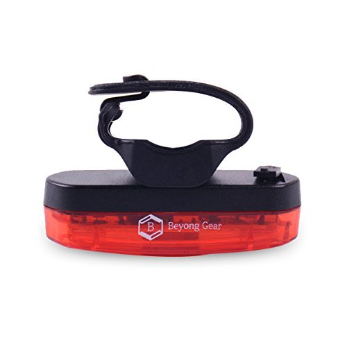Beyonggear Bike Rear Reflector LED Rechargeable Bike Rear Light Hanging Taillight Bike Camping Cycling Safety Reflectors