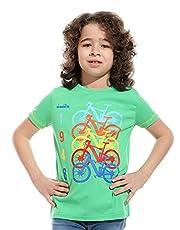 Diadora Round-Neck Short-Sleeve Printed Regular Fit T-shirt For Boys