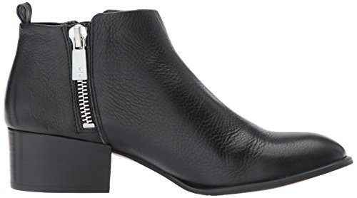 Kenneth Cole New York womens Addy Western Bootie Double Zip Low Heel Leather Black zx3aZIuCOL
