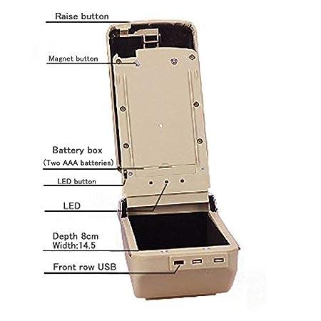 Muchkey Luxe de Voiture Accoudoir Bo/îte avec USB pour 2014 2018/Kaptur Captur Qm3/Housse Accoudoir Console Centrale Cuir PU Accessoires de d/écoration dint/érieur