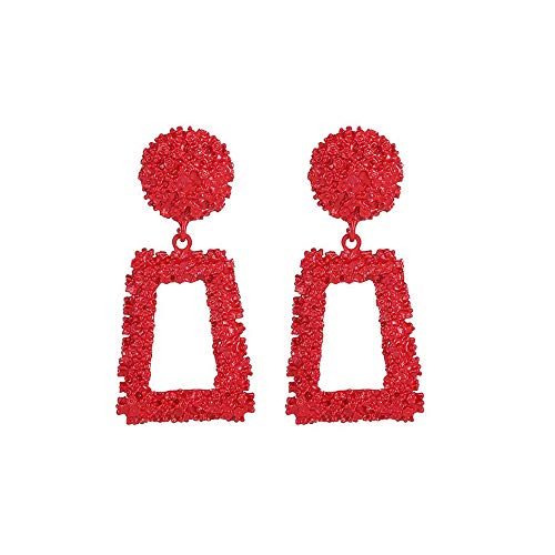 (Geometric Trapezoidal Earrings for Women Girls, Long Vintage Fancy Wedding Bohemian Valentine's Day Gift)