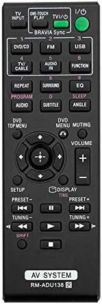 Xtrasaver Generic New Black RM-ADU138 Substitute Fundamental Distant Management Sony Bravia DVD AV House Theater System DAV-TZ140 HBD-TZ140 DAV-TZ150 HBD-TZ145 DAV-TZ145 DAVTZ145 AV-RZ130 DAVTZ150 HBDTZ145
