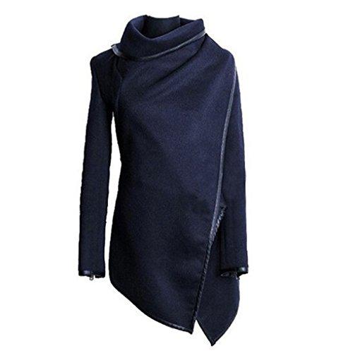 Plus Donna Formato Cappotti Cappotto Autunno Fighting5 Lana Inverno Blu Lunghi Donne Irregolare Trench Cachemire Femmina B7wZ8qSxZ