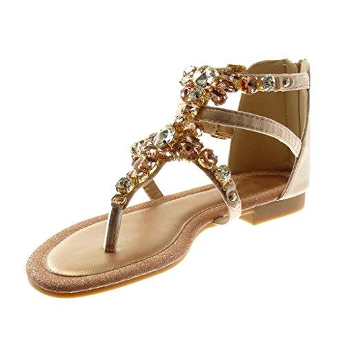 Chanclas Mujer Moda Correa Sandalias Angkorly Tac Joyas Zapatillas Brillantes Brillante tBwqfqX