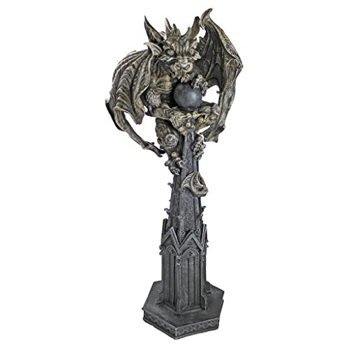 Design Toscano Raptor, Gargoyle Surveyor of the Realm Sculpture
