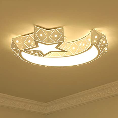 LightInTheBox Chic & Modern LED Flush Mount Ceiling Light Chandeliers Moon  Star Shape Lighting for Living Room Bedroom Kids Room 960lm Bulb Included  ...
