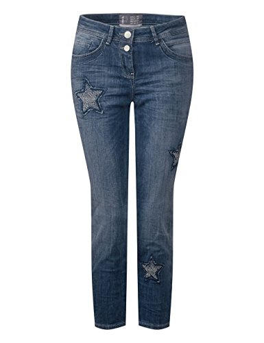 Cecil Bleu Droit Used Wash 10285 Authentic Femme Jean r4wqgtPZrn