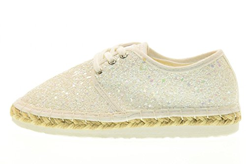 Espadrille Lightweight uk 1 Kelly Glitter Shoes Bianco 33 Ibiza Lelli Lk4608 la01 PnFwYAvvq0