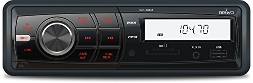 - Bravo View IND-100U - In-Dash Digital Media Receiver  with AM/FM Tuner and USB/SD/AUX-IN
