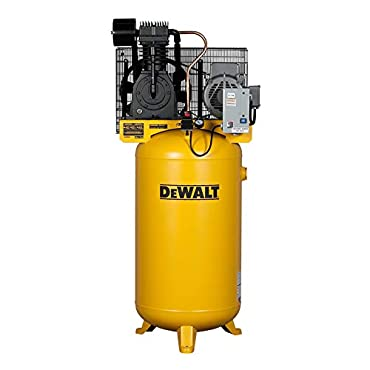 DeWalt DXCMV7518075 Two-Stage Cast Iron Industrial Air Compressor, 80-Gallon