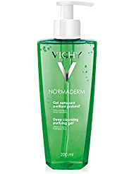 Vichy Normaderm Daily Deep Cleansing Gel Acne Face Wash with Salicylic Acid, 6.76 Fl. Oz.