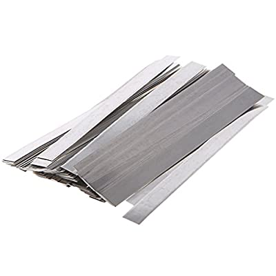 Pure Nickel Strips for Batteries- 99.6% Purity 100pcs 0.1x4x100mm Nickle Tabs for 18650 High Drain Battery Packs, Lipo, Nimh, Nicad, Nicd Battery Spot Welding and Soldering