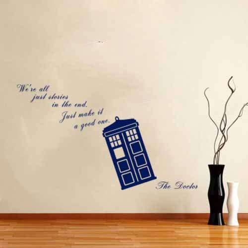 We Are All Stories - Doctor Life Inspirational quote - Wall Decal Vinyl  Sticker (Navy Blue)