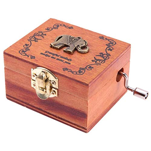 Music Boxes - City Of Sky Vintage Carved Exquisite Retro Wooden Hand Crank Music Box Theme - Trains Granddaughter Box Mother Butterflies Moving Prime Godfather Gloves Anime -