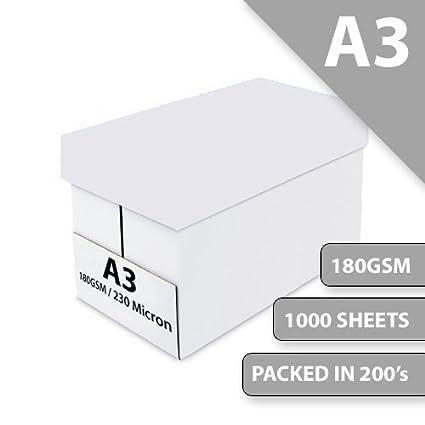 Impresora y caja de oficina A3 tarjeta blanca 180 g/m² ...