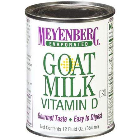 Pure and Natural Delicious Taste, Evaporated Vitamin D Goat Milk, 12 fl oz, Pack of 4