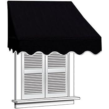ALEKO 4x2 Black Window Awning Door Canopy 4-Foot Decorator Awning