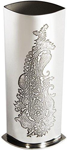 iLuv Bud Vase Paisley Pattern Pewterware Engravable Ideal Wedding Gift (Vase Bud Pewter)