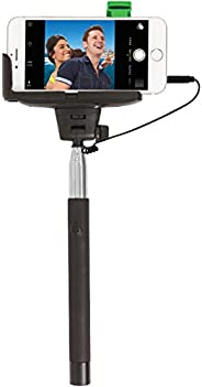ReTrak Selfie Stick with Wired Shutter for iPhone 4/5/5s/6/6s & Samsung Galaxy S III/4 - B