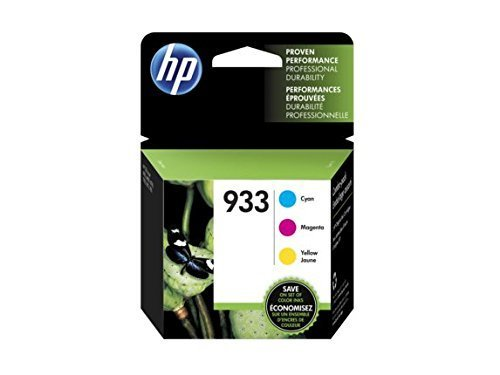 HP 933 Cyan, Magenta & Yellow Original Ink Cartridges, 3 Cartridges (CN058AN, CN059AN,CN060AN) for HP Officejet 6100 6600 6700 7110 7510 7610 7612