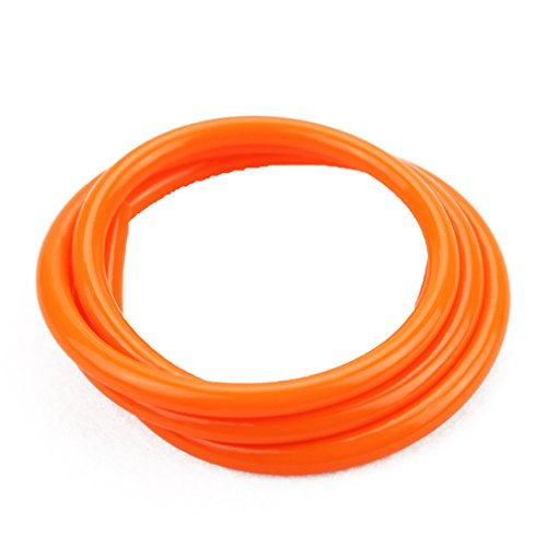 (GOOFIT Orange Tubing Carburetor Fuel Tube Petrol Hose Vent Line for ATV Dirt Bike Go Kart Moped Pocket Bike)