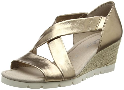 GaborLisette - Sandalias mujercolor Dorado (Gold Metallic Leather (Jute))