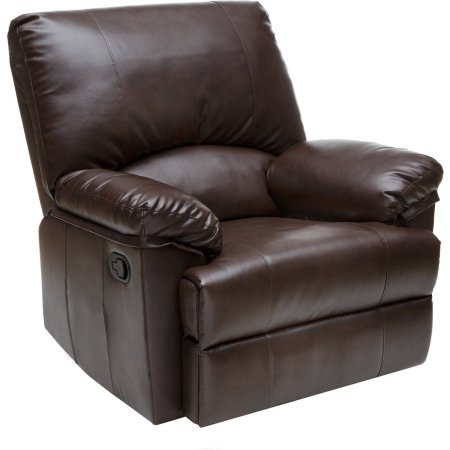 Taupe Leather Rocker Recliner - 6