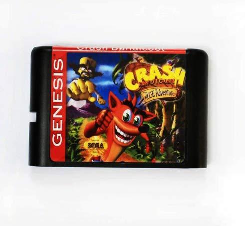 Taka Co 16 Bit Sega MD Game Crash Bandicoot 16 bit MD Game Card For Sega Mega Drive For SEGA Genesis