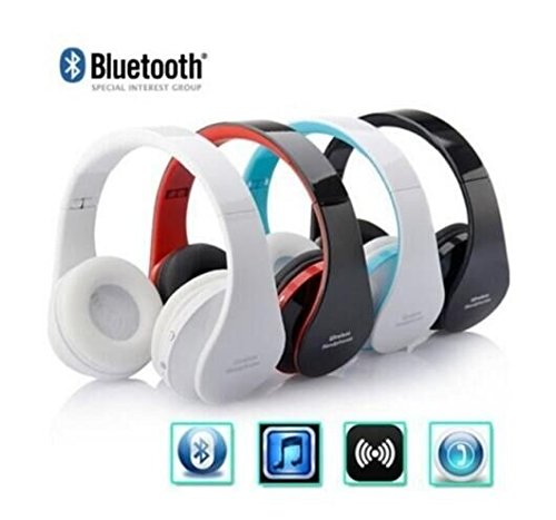 Drhob foldable Wireless Stereo Bluetooth Headset For all IOS And Android system phone system tablet computers and other electronic equipment(Color: Random black and - Electronic Equipment