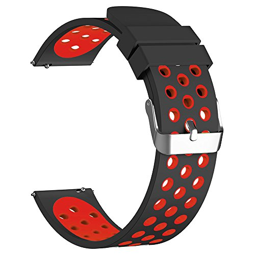 18Mm 20Mm 22Mm Universal Watch Bands  Fantek Soft Silicone Nike Sport Quick Release Watch Strap Wristband For Huawei Watch  Samsung Gear S3  Pebble Time  Moto 360 2Nd Gen Watch