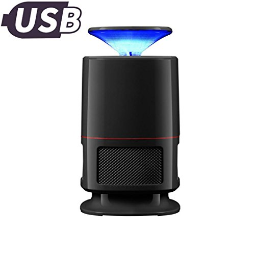 Goodlock Electric Fly Bug Zapper Mosquito Insect Killer LED Light Trap Lamp Pest Control (Black) -