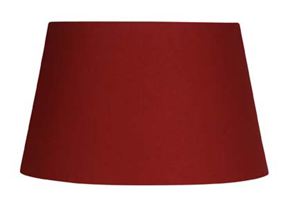 Oaks Lighting Abat-jour tambour Coton Rouge S901/14 RED