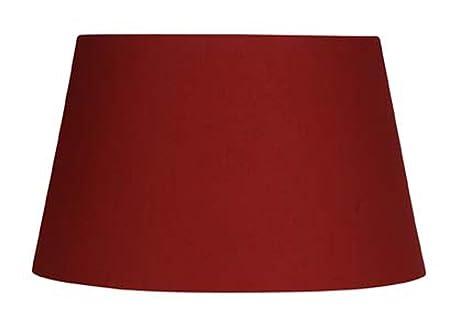 Oaks Lighting Lampenschirm aus Baumwolle zylindrisch 40,6 cm rot