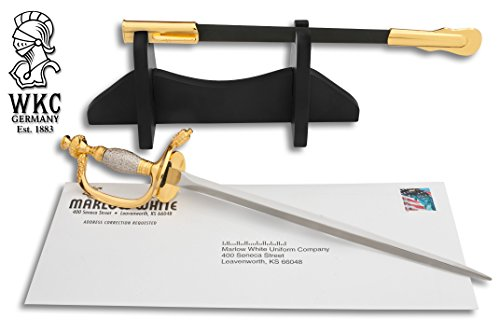 US Army NCO Mini Sword Letter Opener by Marlow White Uniforms