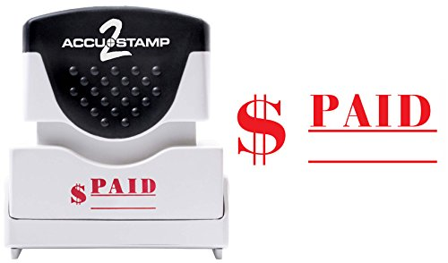 ACCU-STAMP2 Message Stamp with Shutter, 1-Color, PAID, 1-5/8