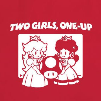 Two Girls, One-Up - Stofftasche / Beutel Pink