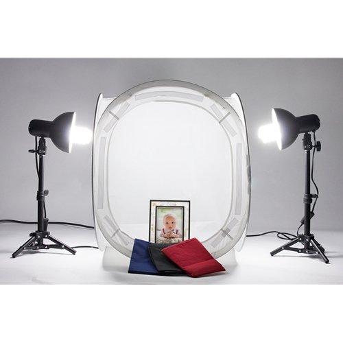 Fovitec StudioPRO Product Photography Cube White Table Top Cube Lighting Tent Kit, 20'' by Fovitec (Image #7)