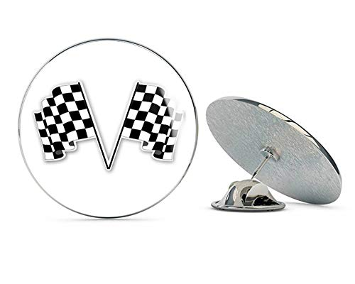BRK Studio Checkered Flags Racing Round Metal 0.75