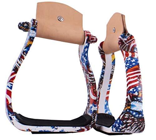 Showman American Pride Angled Aluminum Stirrups! New Horse TACK!