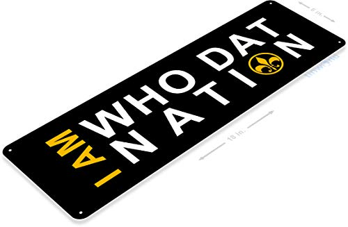 Tinworld TIN Sign B397 Who Dat Nation New Orleans Saints Football Metal Sign Bar Cave 6