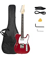 $135 » Glarry Gjazz Electric 5 String Bass Guitar Full Size Bag Strap Pick Connector Wrench Tool Transparent