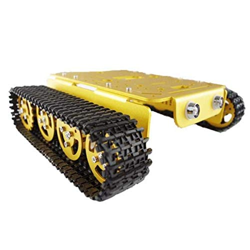 T200 Aluminum Alloy Metal Tank Track Chassis - Arduino Compatible SCM & DIY Kits Smart Robot & Solar Panel - (B) - 1 x Chassis by Unknown (Image #1)