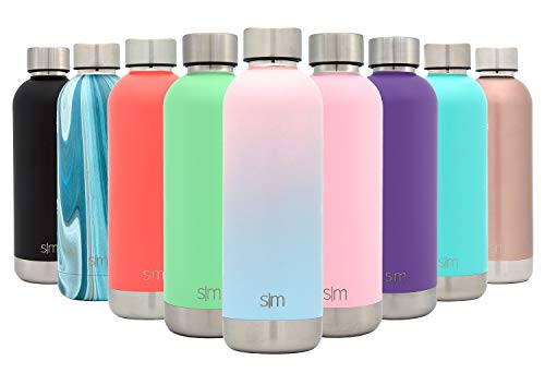 Simple Modern 25oz Bolt Water Bottle - Stainless Steel Hydro Swell Flask - Double Wall Vacuum Insulated Reusable Small Kids Coffee Tumbler Leakproof Thermos - Sweet Taffy