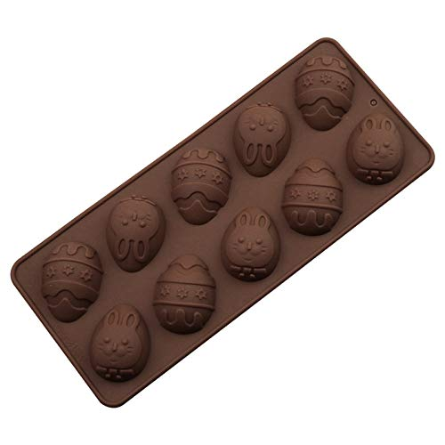 Easter Rabbit Bunny Silicone Mold Egg Shape DIY Baking Moulds Bakeware Trays Baking Tool Ice Mold for Chocolate, Cake