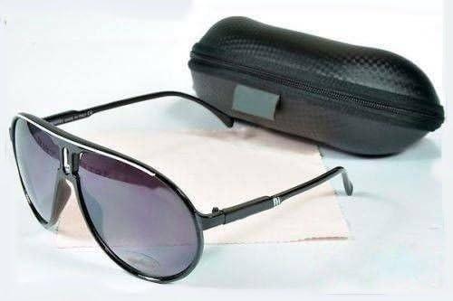 offres exclusives magasin discount info pour Lunettes de soleil style carrera Noir & Blanc Categorie 3 UV400 avec  pochette et chiffonnette