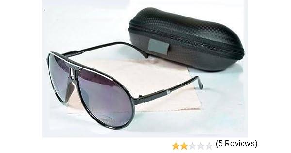 Lunettes de soleil style carrera Noir & Blanc Categorie 3 UV400 avec pochette et chiffonnette