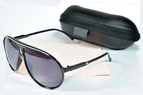 Occhiali da sole, stile Carrera, nero e bianco, categoria 3,UV400